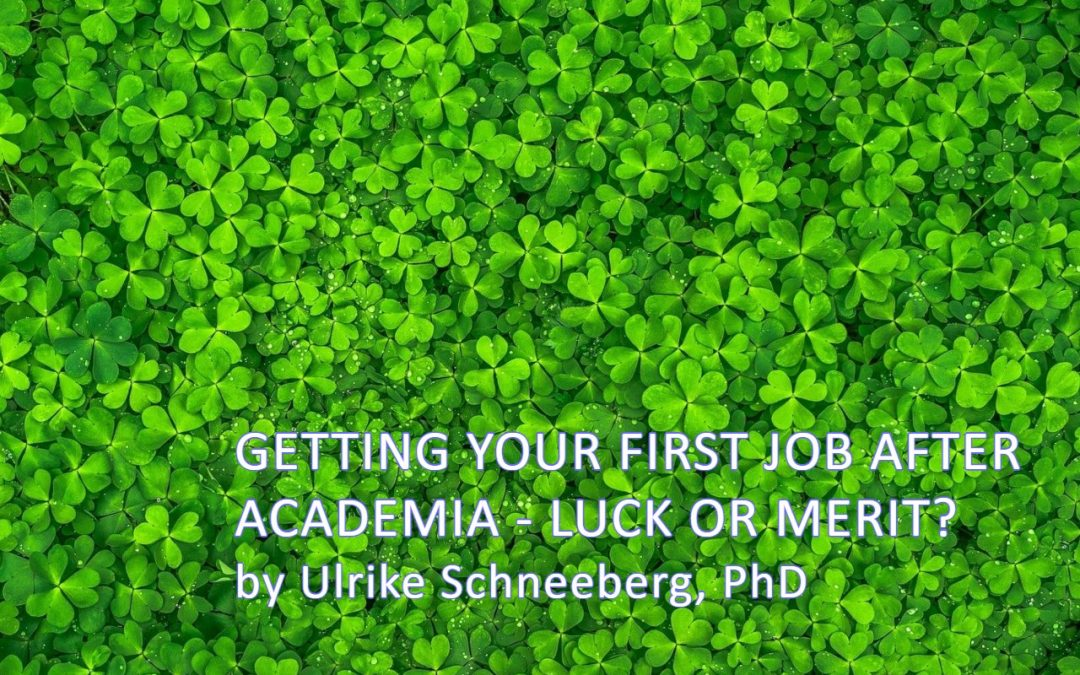 Getting your first job after academia – luck or merit?
